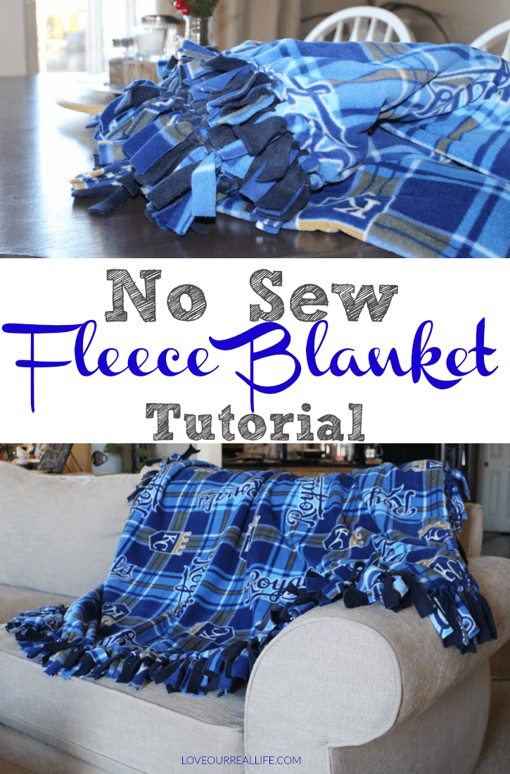 No sew fleece blanket tutorial!