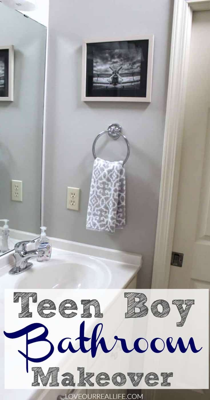 Teen Boy Bathroom Makeover - Love Our Real Life