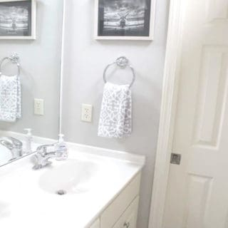 Teenage boy bathroom makeover