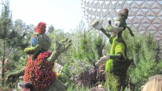 Beautiful landscaping at Disney's Epcot
