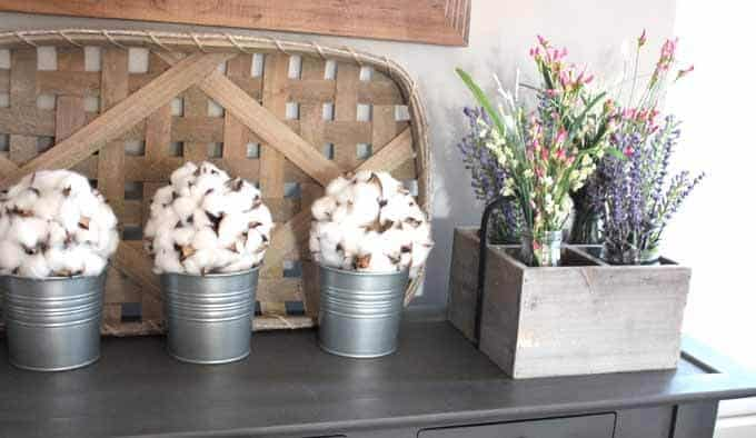 Faux flowers in home decor