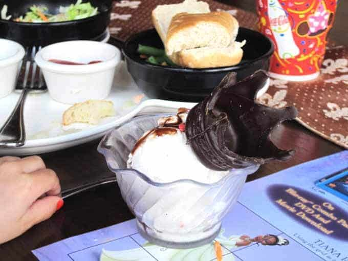 Have ice cream at Cinderella's Castle in Magic Kingdom