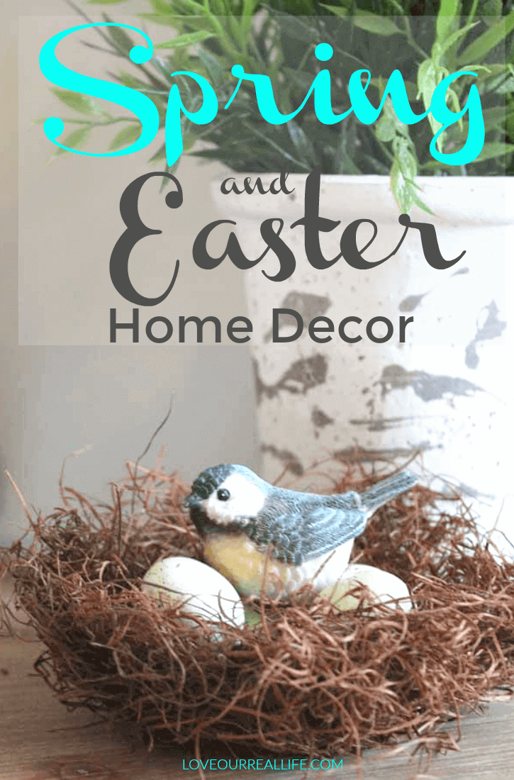 Adding Spring and Easter Decor to your home.