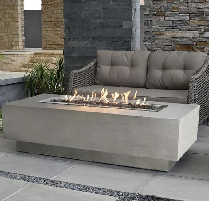 Cast Concrete Propane fire table.