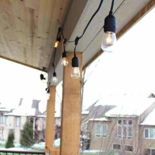How to hang commercial grade outside string lights