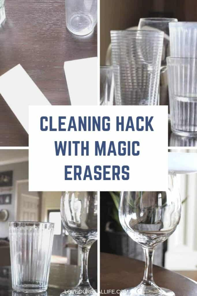 Cleaning hack with Magic Eraser