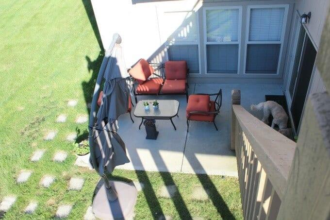 Concrete pavers used to expand a patio