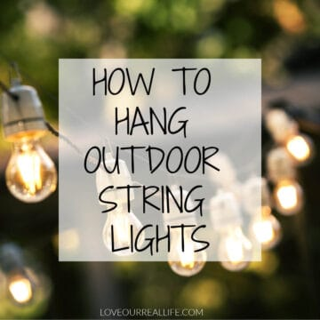 string lights hanging outside
