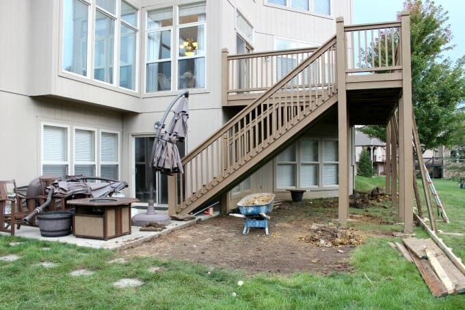 Removing sod to add to concrete patio