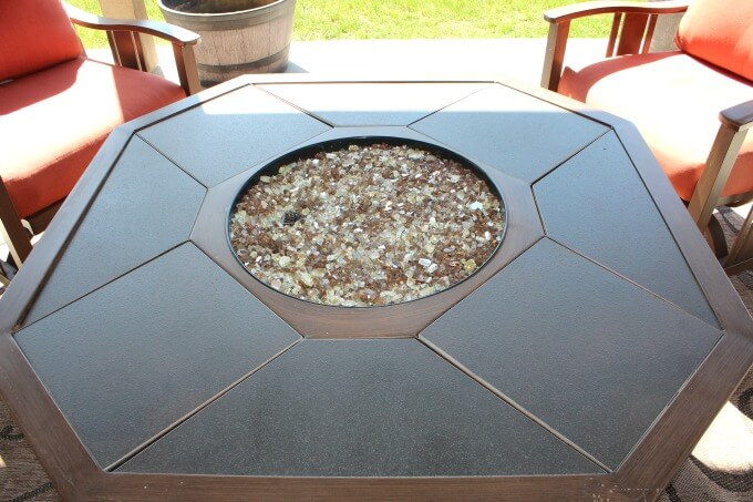 Fire glass to replace lava rock in fire pit.