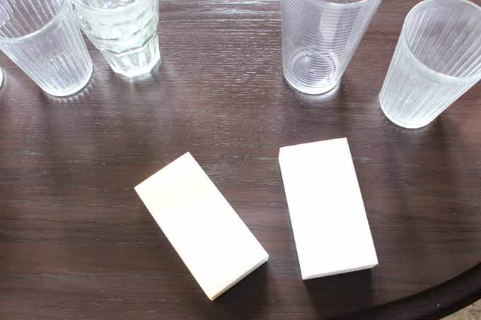Cleaning glasses with a Magic Eraser. Get rid of water spots and stains on glasses using a magic eraser!