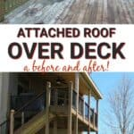 Attached roof over deck a before and after