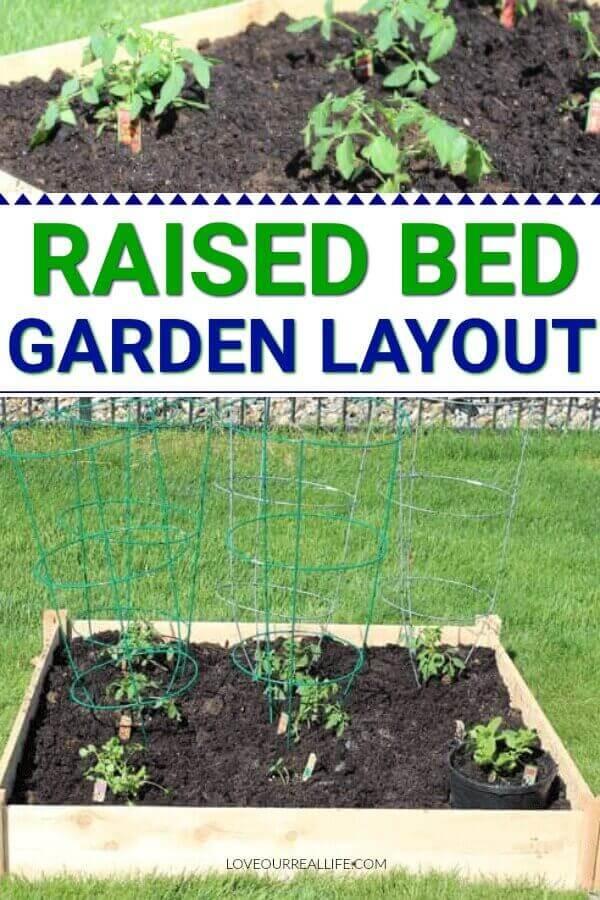 Raised bed garden layout