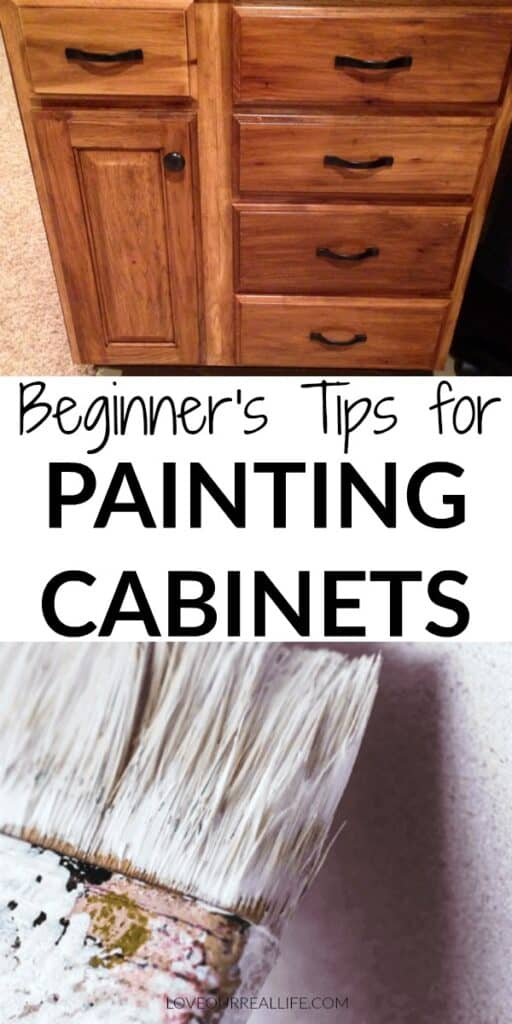 Beginners tips for painting cabinets