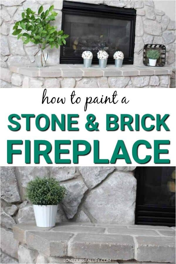 How to paint a stone and brick fireplace