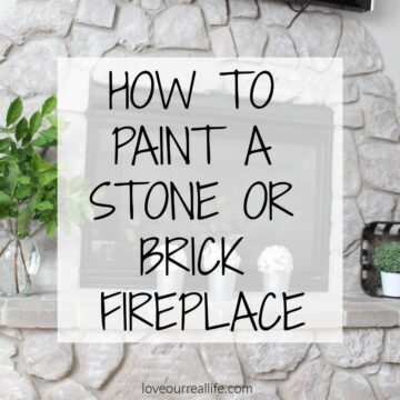 DIY Stone Fireplace Update using paint!