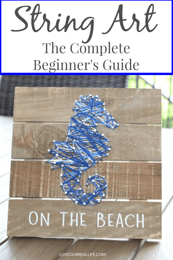 String art for beginners - Seahorse beach art.