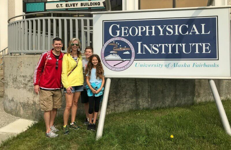 Vacation in Alaska, visiting Geophysical Institute in Fairbanks, Alaska