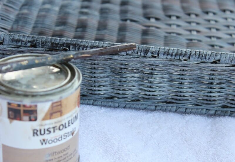 How to update baskets using Rust-Oleum Driftwood stain.
