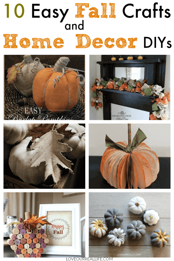 Home Decor Diys | 10 Easy Fall Crafts And Home Decor Diys Love Our Real Life