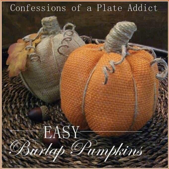 Burlap Pumpkins