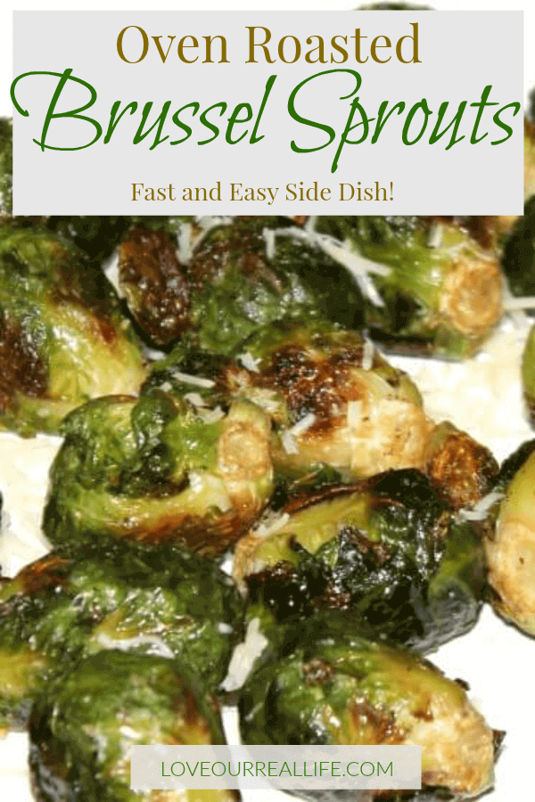 Oven Roasted Brussel Sprouts side dish