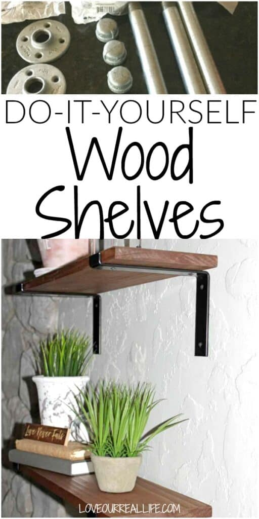 Do it yourself wood shelves