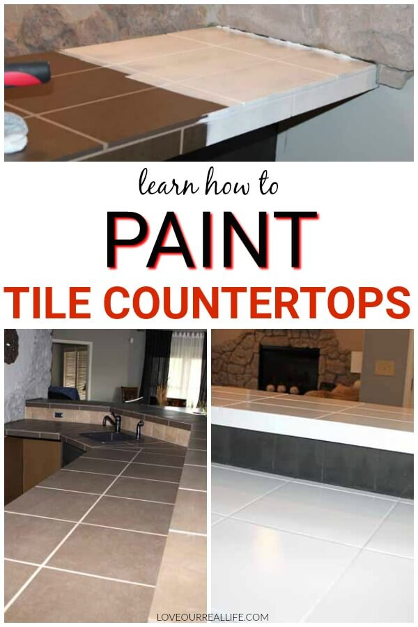 Learn how to paint tile countertops