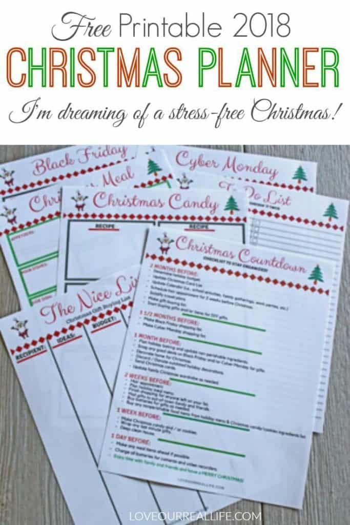 graphic relating to Free Christmas Planner Printables called Absolutely free Xmas Planner Printables ⋆ Delight in Our True Lifetime