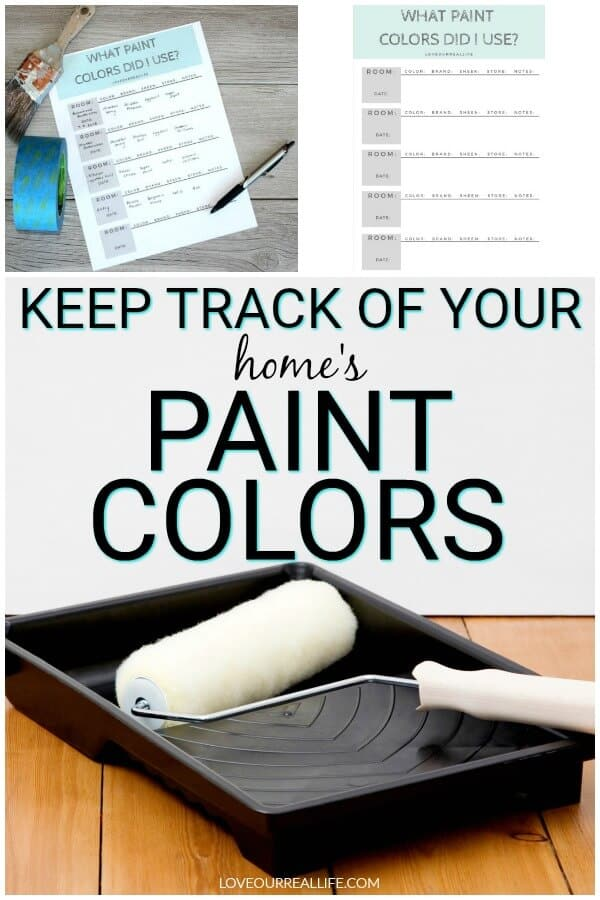 Keep track of home's paint colors