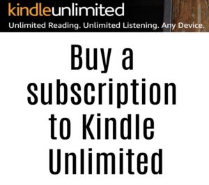 "Text that reads ""buy a subscription to Kindle Unlimited"""
