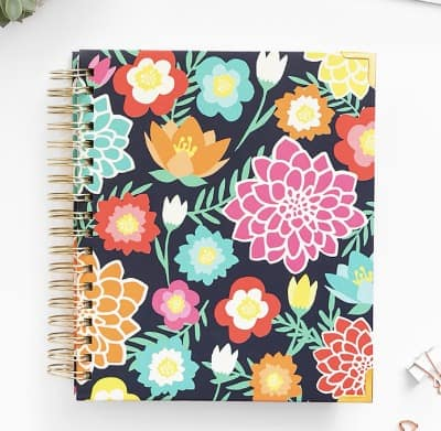 Living Well planner in floral design for 2019