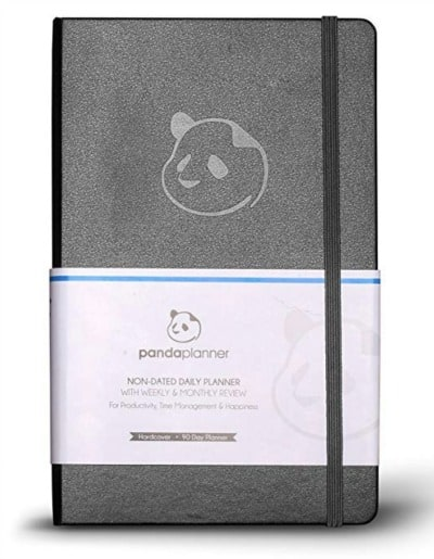 Silver Gray Panda Planner for 2019