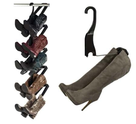 Boot rack as seen on Rachel Ray - closet organization ideas