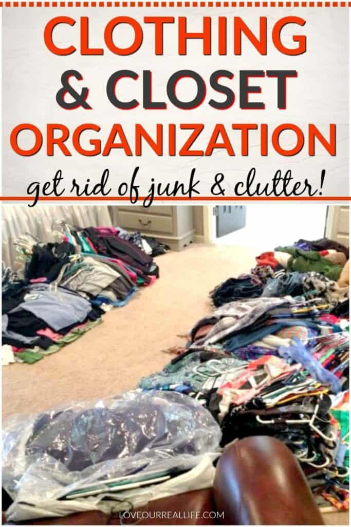 Clothing and closet organization ideas.