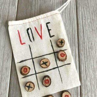 DIY Valentine Tic Tac Toe Bag
