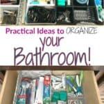 Practical bathroom organization