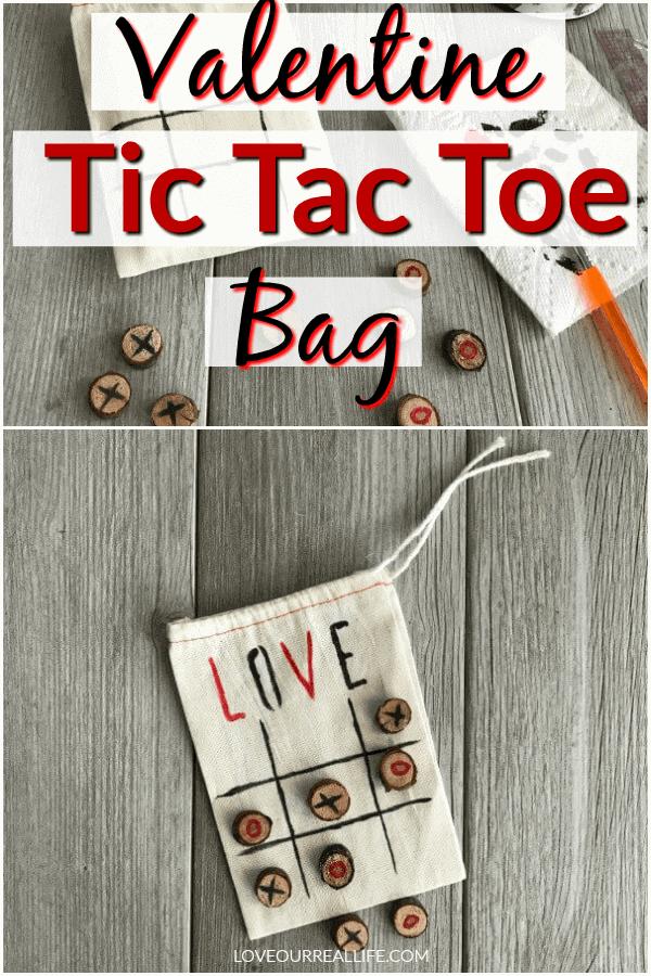 Valentine Tic Tac Toe Bag