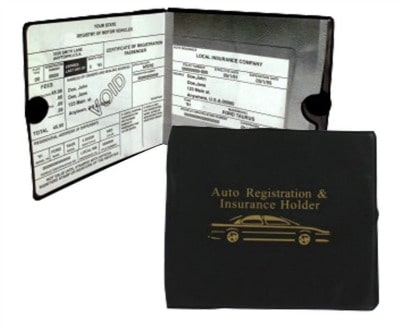 Auto registration and insurance card holder.