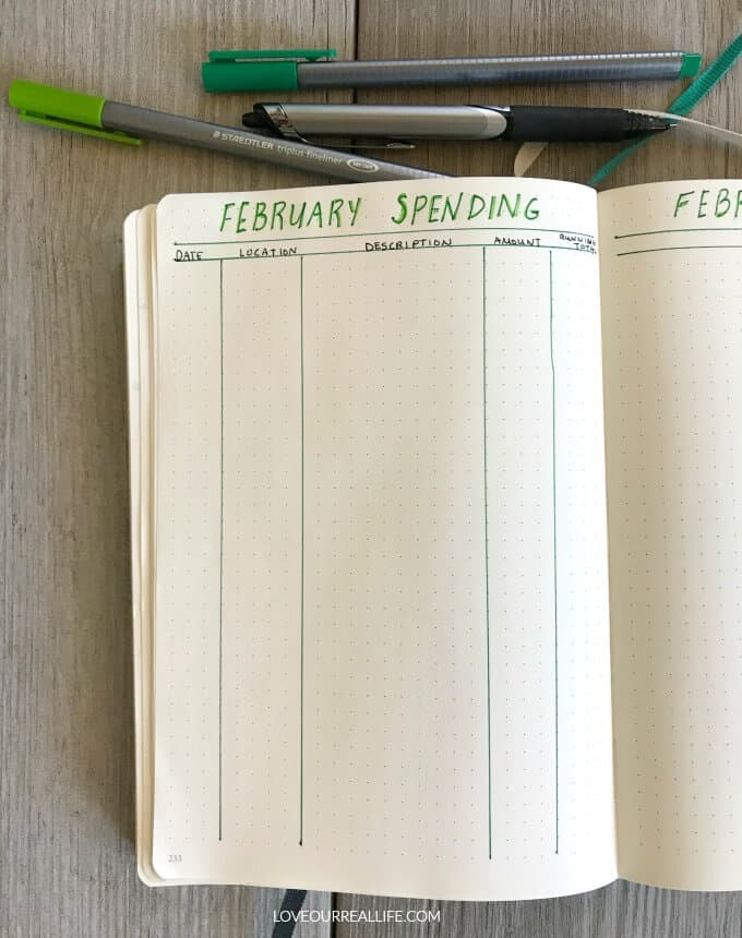 Budget tips; tracking monthly expenses