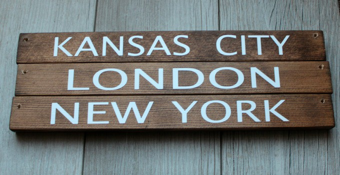 Kansas City, London, New York for 3 different time zone wall clocks