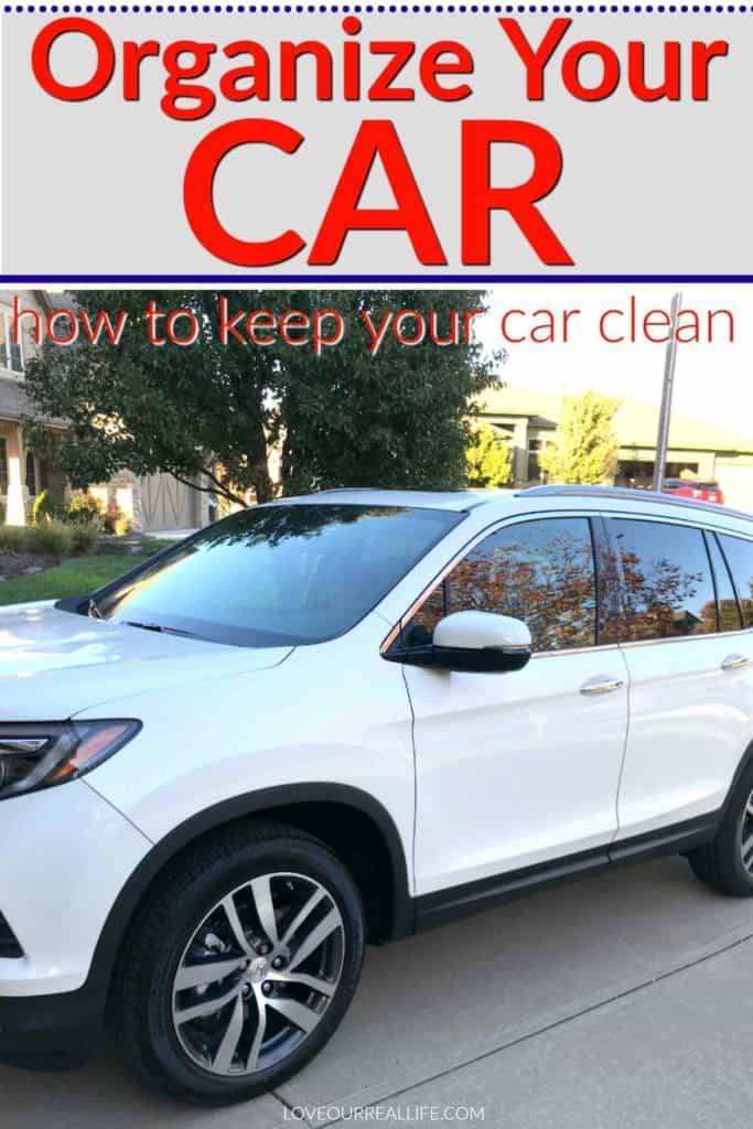 how to organize a car and keep it clean