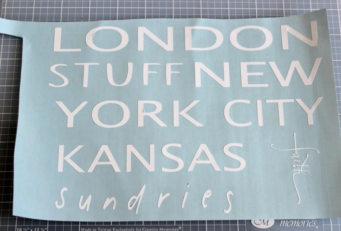 Using the Silhouette Cameo 3 to make city names for clock time zones