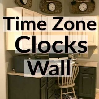 Time Zone Clocks Wall in home office