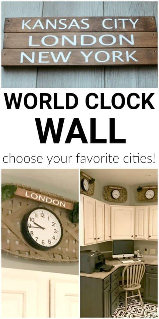 World clock wall