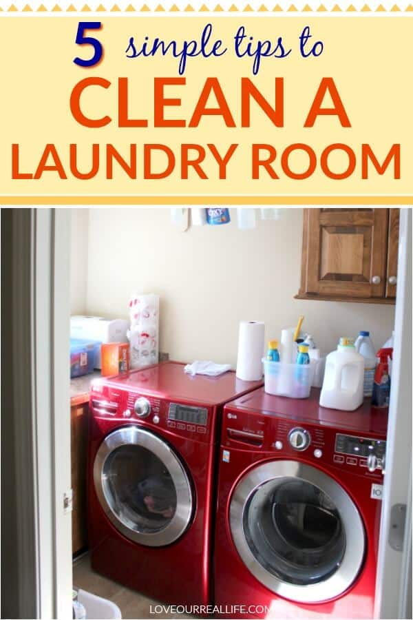 Weekly house cleaning schedule: Laundry room cleaning tips