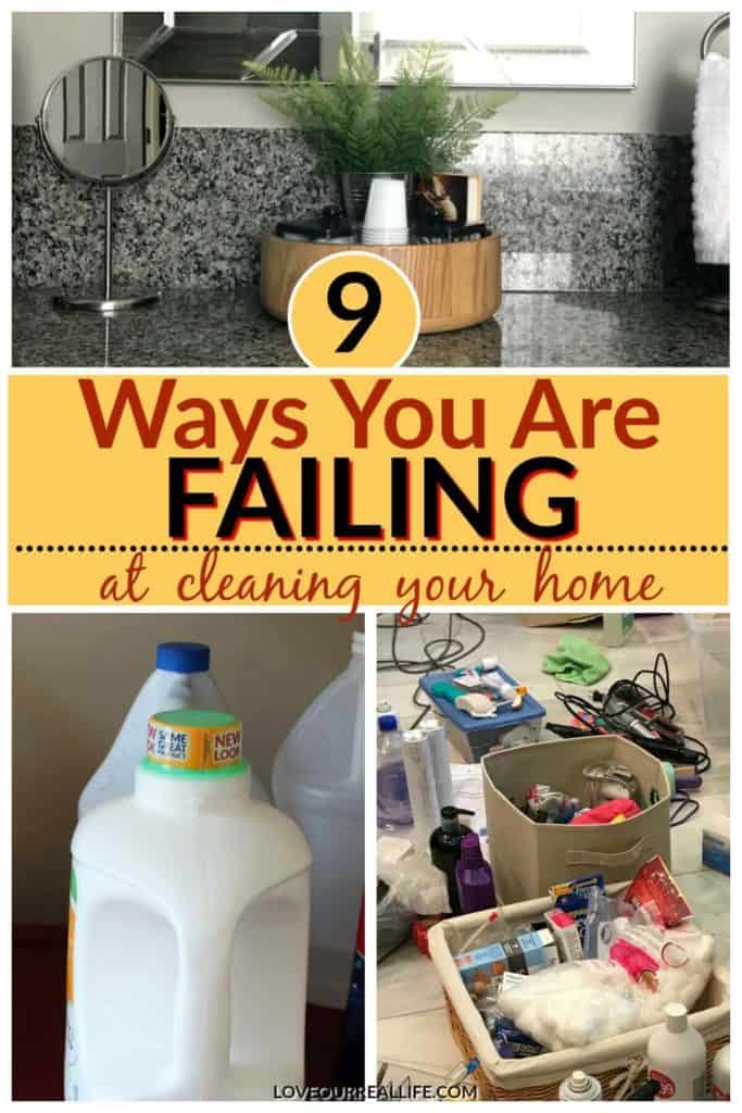 9 ways you are failing at cleaning your home.