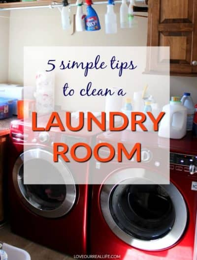 Tips for a clean laundry room