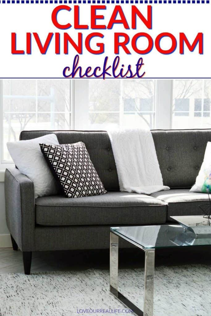 Clean living room checklist
