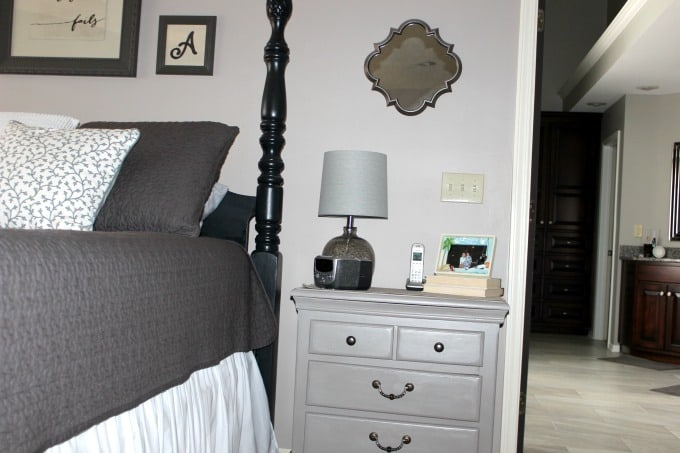 Clean nightstand in bedroom for a calm environment.